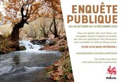 Enquête publique : cours d'eau
